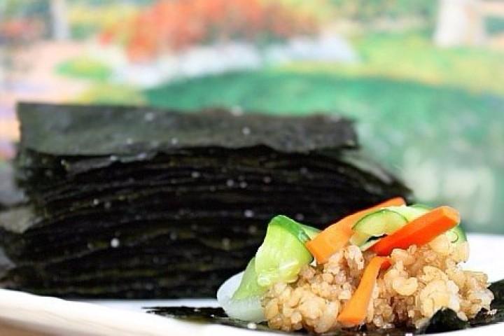 Хрустящие водоросли нори на закуску — Gim-gui