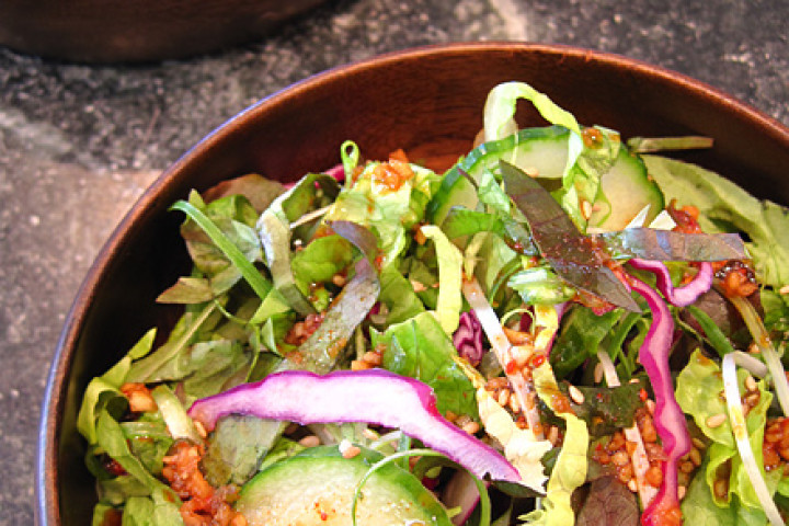 Корейский салат из зеленого лука