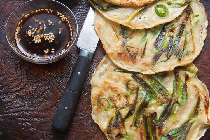 Корейские блинчики из зеленого лука